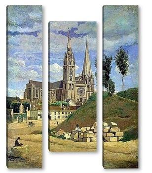 Модульная картина Кафедральный собор в Шартре