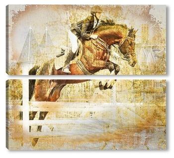 Модульная картина Конный спорт