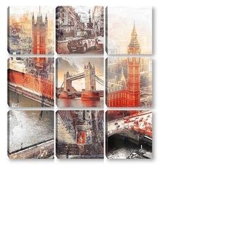 Модульная картина Достопримечательности Лондона