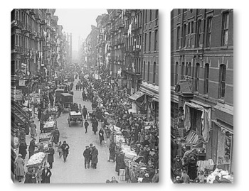 Модульная картина Фруктовая улица,Нью-Йорк,1923г.