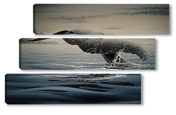 Модульная картина Whale001