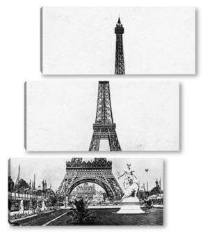 Модульная картина Эйфелева башня на Всемирной выставке,1890-е.