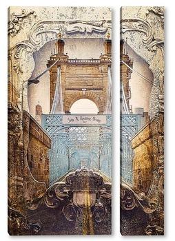 Модульная картина The Roebling bridge