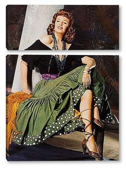 Модульная картина Rita Hayworth-01