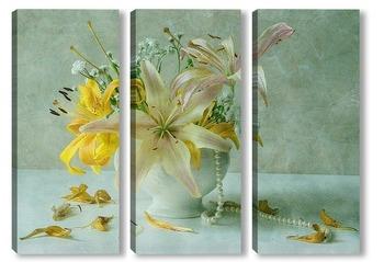 Модульная картина Букет лилий