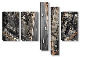 Модульная картина Мост над Нью-Йорком