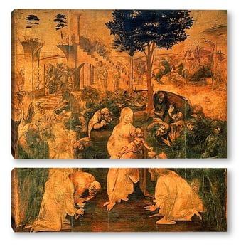 Модульная картина Leonardo da Vinci-03