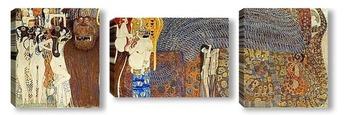 Модульная картина Бетховенский фриз - Враждебные силы (полный вид) (1902)