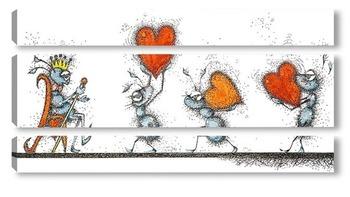 Модульная картина Король сердец