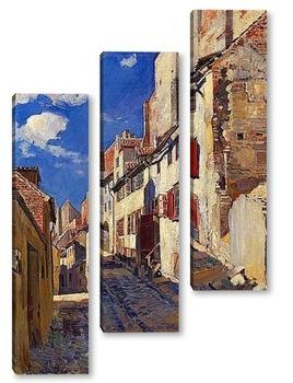 Модульная картина Старая Рига.Улица.