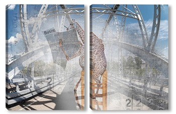 Модульная картина Бизнес Жирафа