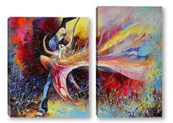 Модульная картина Танец страсти