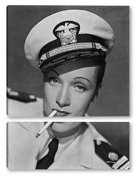 Модульная картина Портрет актриссы Марлен Дитрих.
