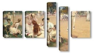 Модульная картина Клуб большого тениса