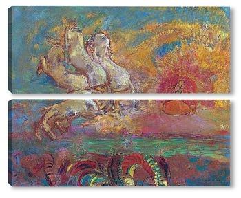 Модульная картина Колесница Аполлона и дракон
