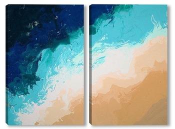 Модульная картина Глубины морей