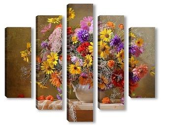 Модульная картина Сентябрьское разноцветье