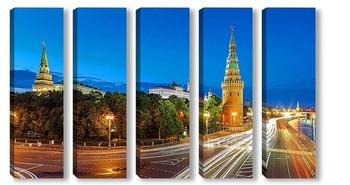 Модульная картина Кремлевская набережная