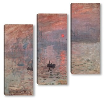 Модульная картина Впечатление,восход солнца,1873г.
