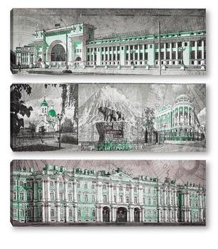 Модульная картина Виды России