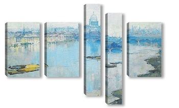 Модульная картина Св. Паульс и река