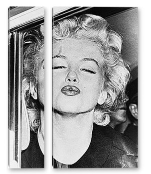 Модульная картина Мерелин Монро посылающая поцелуй.
