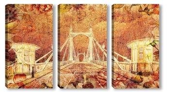 Модульная картина Альберт мост. Лондон