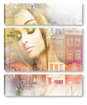 Модульная картина Мечты об Амстердаме