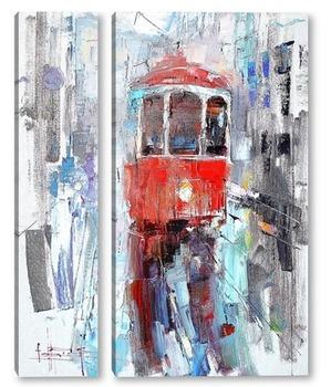 Модульная картина Трамвайчик