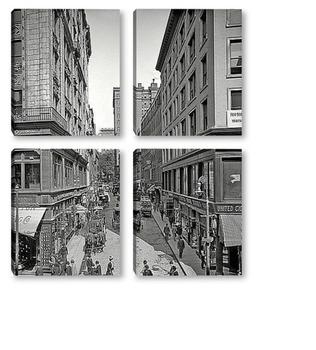 Модульная картина Бромфильд стрит в Бостоне, 1908