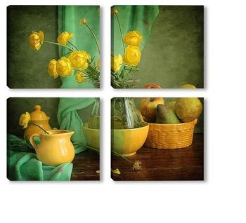 Модульная картина Лютики-цветочки
