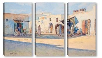 Модульная картина Уличная сцена из Туниса