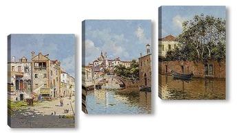 Модульная картина Венецианский канал