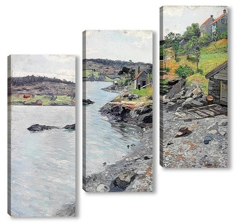 Модульная картина Норвежский береговой пейзаж, 1889
