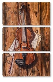 Модульная картина Скрипка Шерлока Холмса