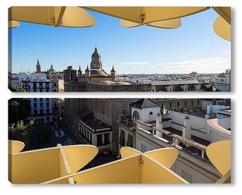 Модульная картина Вид на Севилью