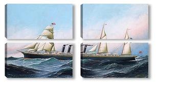 Модульная картина Американский корабль