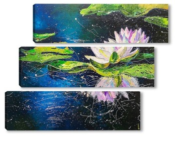 Модульная картина Водяная лилия