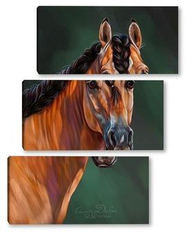 Модульная картина Лошадь