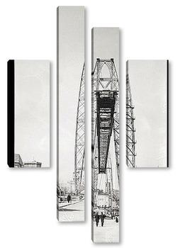 Модульная картина Транспортный мост в Марселе, 1910