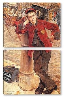 Модульная картина Лондонский чистильщик обуви