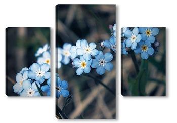 Модульная картина Голубое трио