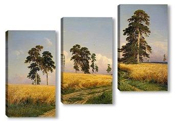 Модульная картина Поле Пшеницы