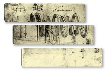 Модульная картина Leonardo da Vinci-15