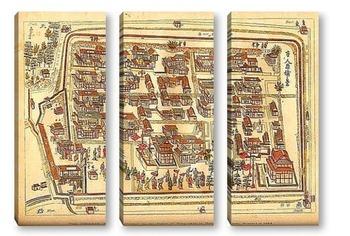 Модульная картина Карты городов_9
