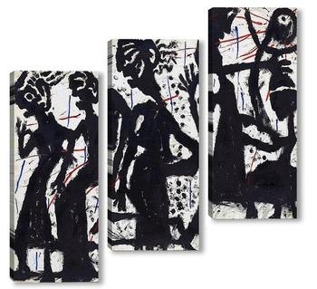 Модульная картина Шесть персонажей