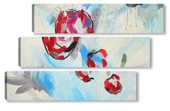 Модульная картина Три яблочка