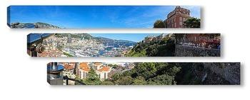 Модульная картина Монако - вид на порт со смотровой площадки