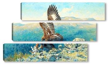 Модульная картина Золотой Орел с добычей