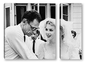 Модульная картина Свадьба Мерелин Монро и Артура Миллера.